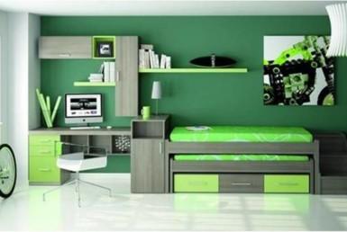 Zelená izba pre tínedžera